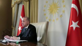 Το σχόλιο του Ερντογάν μετά την τηλεδιάσκεψη με Μέρκελ και Μακρόν