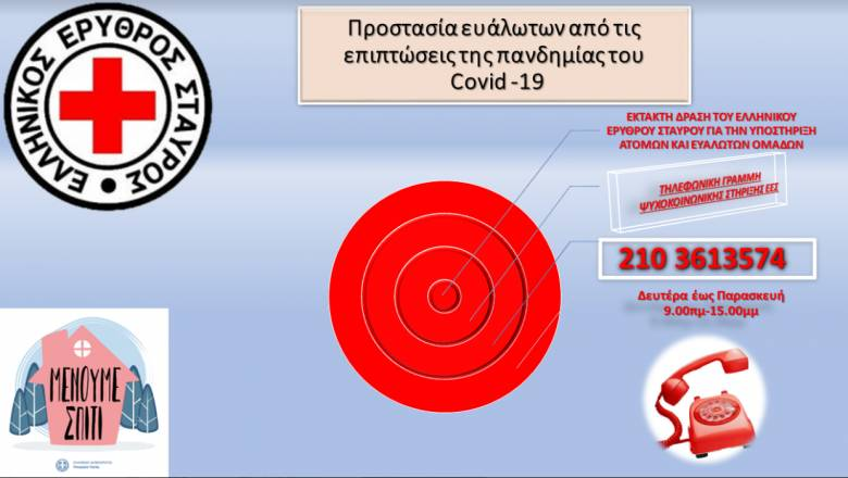 Κορωνοϊός: Έκτακτη δράση του Ελληνικού Ερυθρού Σταυρού για την υποστήριξη ατόμων και ευάλωτων ομάδων