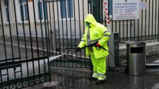 Καθημερινή σχολαστική απολύμανση όλων των δημόσιων νοσοκομείων της πρωτεύουσας από τον Δήμο Αθηναίων