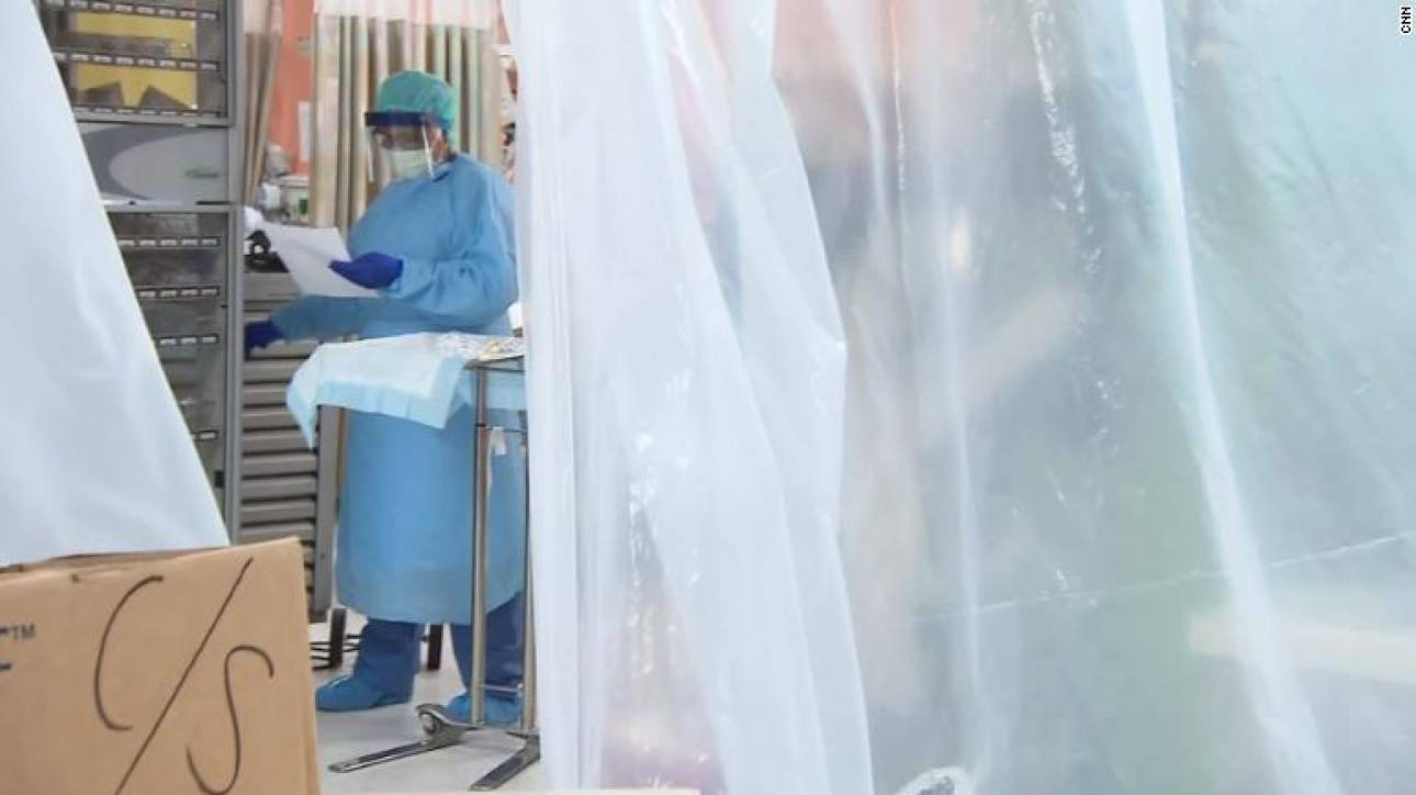 CNNi: Στα άδυτα ενός νοσοκομείου της Νέας Υόρκης - Γεμάτες ΜΕΘ και απόγνωση