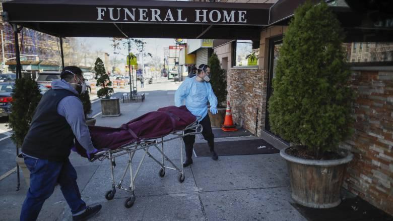 Κορωνοϊός: Η φονικότερη ημέρα για τη Νέα Υόρκη - 562 νεκροί μέσα σε 24 ώρες