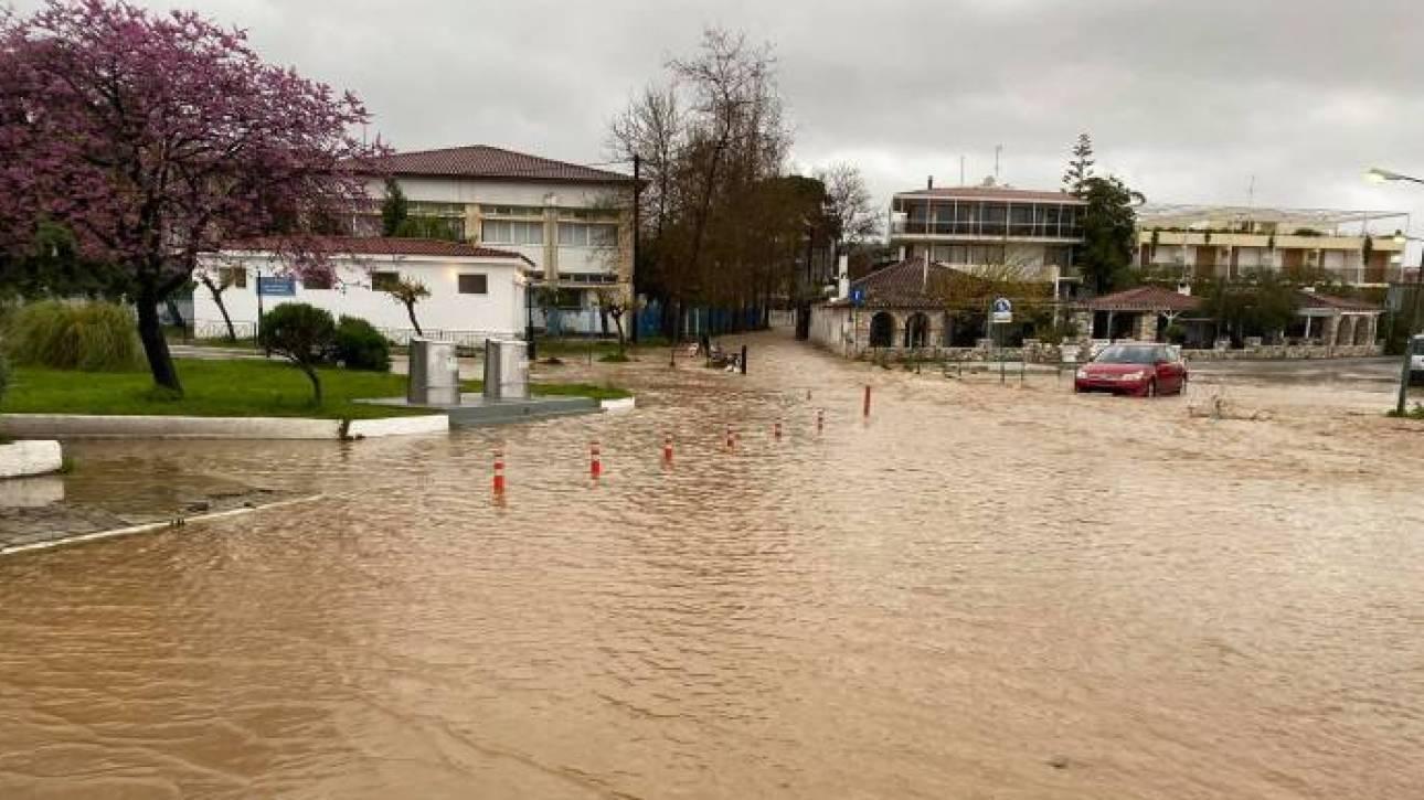 Πλημμύρες και ζημιές στη Σκιάθο λόγω κακοκαιρίας