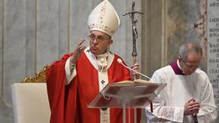 Το κήρυγμα του Πάπα στην άδεια Βασιλική του Αγίου Πέτρου για την Κυριακή των Βαΐων