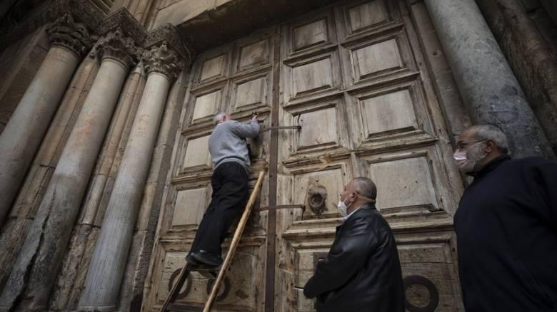 Κορωνοϊός - Άγιοι Τόποι: Πάσχα χωρίς προσκυνητές και λιτανείες - «Λουκέτο» στον Πανάγιο Τάφο