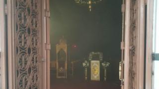 Λαμία: Φωτιά στον μητροπολιτικό ναό