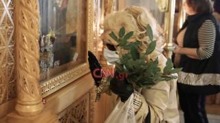 Κορωνοϊός: Ελάχιστος κόσμος σε ναό της Αθήνας για την Κυριακή των Βαΐων