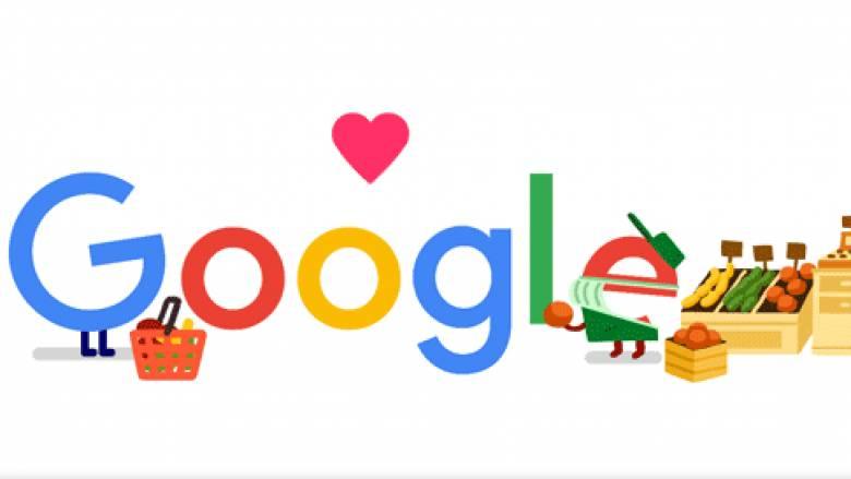 Google doodle: Ένα ευχαριστώ στους εργαζόμενους σε καταστήματα τροφίμων