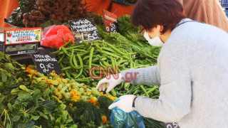 Κορωνοϊός: Μειωμένη η κίνηση στις λαϊκές αγορές