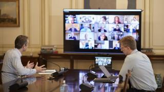 Τηλεδιάσκεψη Μητσοτάκη με ερευνητές που θα μελετήσουν πρόταση για την αντιμετώπιση του κορωνοϊού