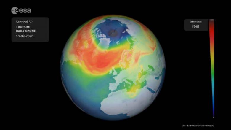 Τεράστια τρύπα του όζοντος εντοπίστηκε πάνω από την Αρκτική
