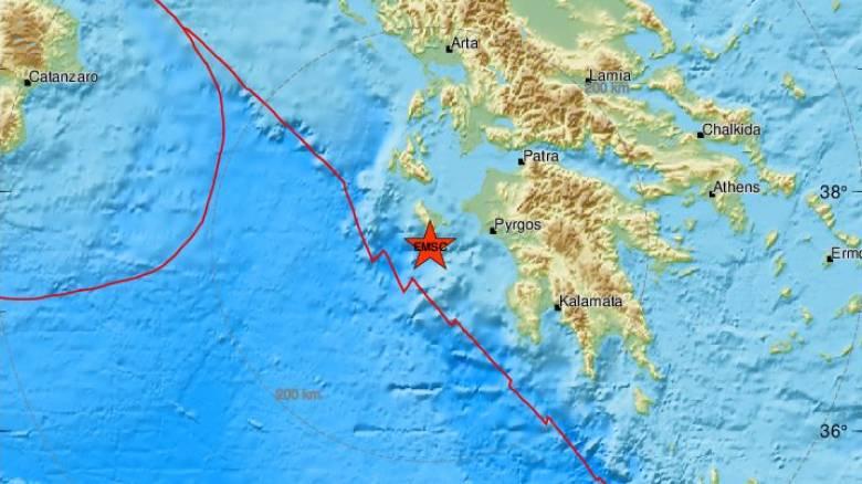 Σεισμός κοντά στη Ζάκυνθο - Αισθητός στο νησί