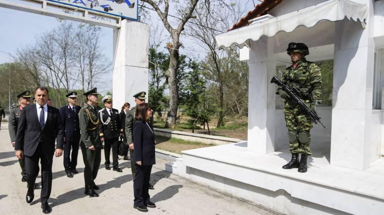 Στις Καστανιές Έβρου η Σακελλαροπούλου - Μήνυμα στην Τουρκία η επίσκεψή της