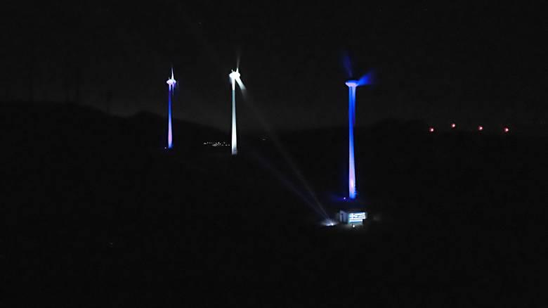 Η ελληνική και ιταλική σημαία φώτισαν τα πάρκα της Enel Green Power
