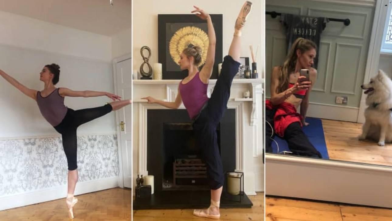 Κορωνοϊός: Πώς οι χορευτές του Βασιλικού Μπαλέτου προπονούνται στα σπίτια τους