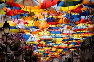 Umbrella Sky Project, Agueda, Πορτογαλία
