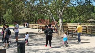 Πρωτομαγιά στο Πάρκο Τρίτση παρά την απαγόρευση