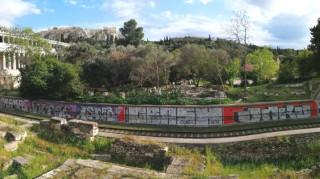 Διπλή αντιγκράφιτι επιχείρηση του Δήμου Αθηναίων σε γραμμές ΗΣΑΠ