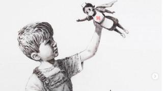 Banksy: Το νέο έργο του εξυμνεί τους εργαζόμενους στη δημόσια Υγεία