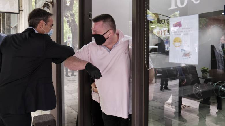 Στο Παγκράτι ο Κυριάκος Μητσοτάκης - Συνομίλησε με καταστηματάρχες και πολίτες