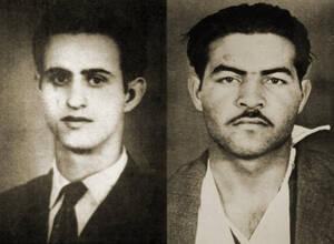 1956, Κύπρος.  Εκτελούνται από τις βρετανικές αρχές οι αγωνιστές της ΕΟΚΑ Μιχαήλ Καραολής και Ανδρέας Δημητρίου, οι οποίοι ανεβαίνουν στην αγχόνη ψέλνοντας τον εθνικό ύμνο και ζητωκραυγάζοντας υπέρ της Ένωσης της Κύπρου με την Ελλάδα.