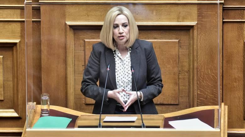 Γεννηματά: Η κυβέρνηση ακολουθεί τον δρόμο της αλαζονείας και του αυταρχισμού