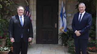 Επιφυλακτικότητα συνιστά ο Πομπέο στο Ισραήλ στην προσάρτηση περιοχών της Δυτικής Όχθης