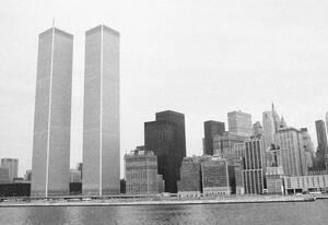 1975, Νέα Υόρκη.  Άποψη των δίδυμων πύργων του World Trade Center.
