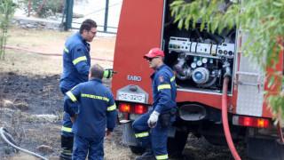 Φωτιά σε χώρο ανακύκλωσης στη Μάνδρα