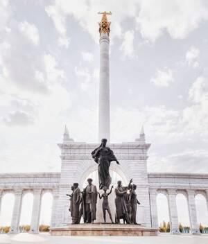 Το μνημείο της Ανεξαρτησίας του Καζακστάν, στη Νουρσουλτάν.