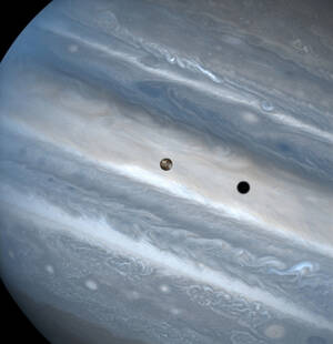 Jupiter and Its Moon Io (1999)