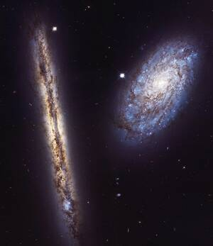 Galaxies NGC 4302 and NGC 4298 (2017)