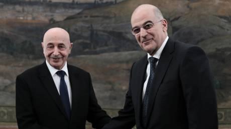 Τηλεφωνική επικοινωνία Δένδια με τον πρόεδρο της λιβυκής Βουλής Σάλεχ - Τι συζητήθηκε