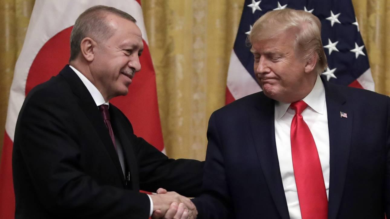 Τηλεφωνική επικοινωνία Τραμπ - Ερντογάν: «Ψηλά» στην ατζέντα Λιβύη και Συρία