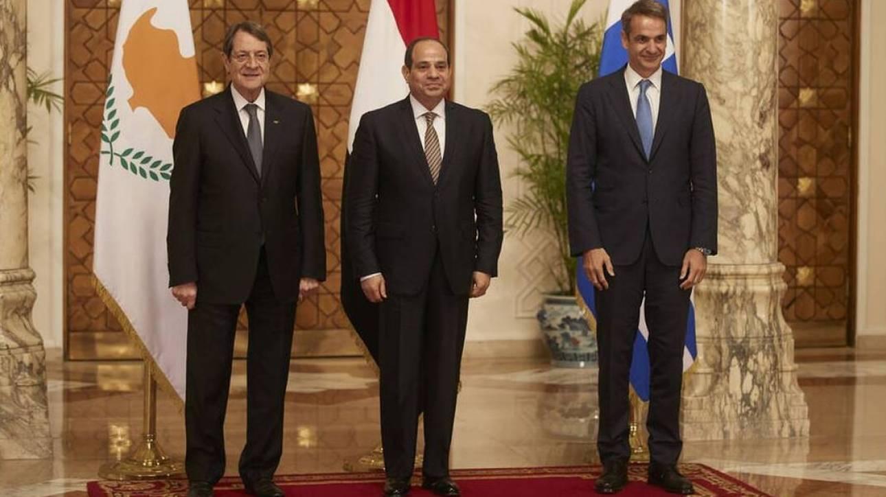 Η τριμερής συνεργασία Ελλάδας-Κύπρου-Αιγύπτου στην τηλεφωνική επικοινωνία Αναστασιάδη-Αλ Σίσι
