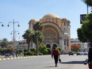 Η Μπασίλικα του Καΐρου,ο καθολικός ναός ο οποίος δημιουργήθηκε στο πρότυπο της Αγίας Σοφίας