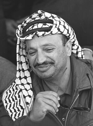 1964, Ιερουσαλήμ. Ο Παλαιστίνιος ηγέτης Γιάσερ Αραφάτ ιδρύει την Οργάνωση για την Απελευθέρωση της Παλαιστίνης (P.L.O.).