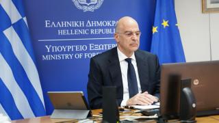 Τριμερής τηλεδιάσκεψη των υπουργών Εξωτερικών Ελλάδας - Κύπρου - Ιορδανίας