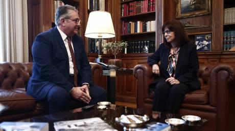 Συνάντηση Σακελλαροπούλου - Κουτσούμπα: Στο επίκεντρο οι εξελίξεις στα ελληνοτουρκικά
