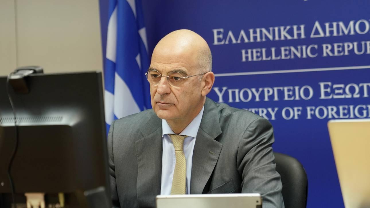 Δένδιας: Η Ελλάδα αξιοποιεί όλα τα διπλωματικά της όπλα