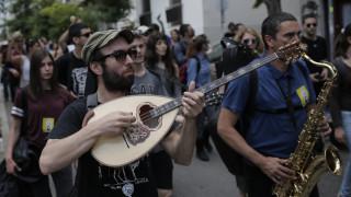 Κινητοποίηση καλλιτεχνικών σωματείων στο κέντρο της Αθήνας