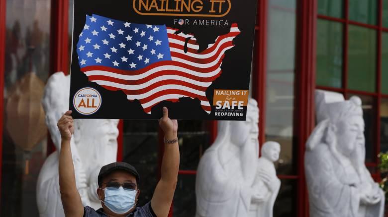Κορωνοϊός - ΗΠΑ: O χαμηλότερος ημερήσιος απολογισμός εδώ και δύο μήνες