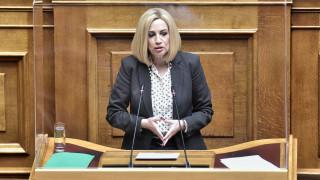 Γεννηματά: Επόμενα βήματα είναι συμφωνίες με Αλβανία και Αίγυπτο