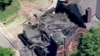 Πίτσπουργκ: Κατέρρευσε η οροφή και τμήμα του τοίχου σε εκκλησία ηλικίας 130 ετών