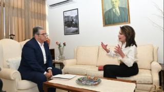 Συνάντηση Αγγελοπούλου - Κουτσούμπα: Ενημέρωση ΚΚΕ για το έργο της Επιτροπής «Ελλάδα 2021»