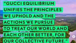 Οίκος Gucci: Η μόδα στην υπηρεσία του περιβάλλοντος και των κοινωνικών μεταρρυθμίσεων
