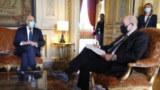 Στο Παρίσι ο Νίκος Δένδιας: Συνάντηση με τον Ζαν-Ιβ Λε Ντριάν