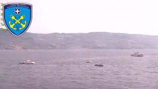 Βίντεο: Τουρκικές ακταιωροί συνοδεύουν βάρκα με πρόσφυγες και μετανάστες σε ελληνικά χωρικά ύδατα