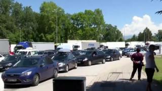 Αυξημένη και σήμερα η κίνηση αυτοκινήτων στον Προμαχώνα
