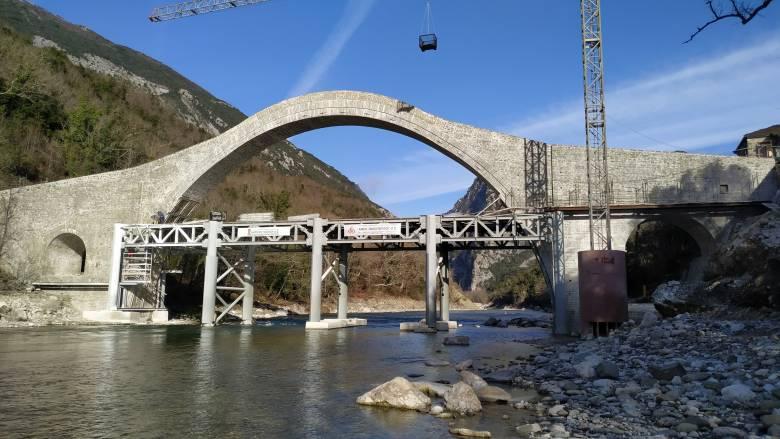 Αναστηλώθηκε η γέφυρα Αράχθου στην Πλάκα