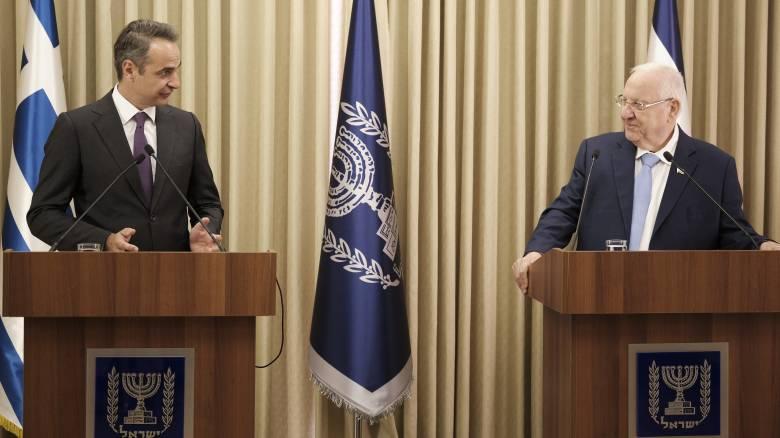 Ισραήλ: EastMed και άμυνα στο επίκεντρο των επαφών Μητσοτάκη - Ριβλίν